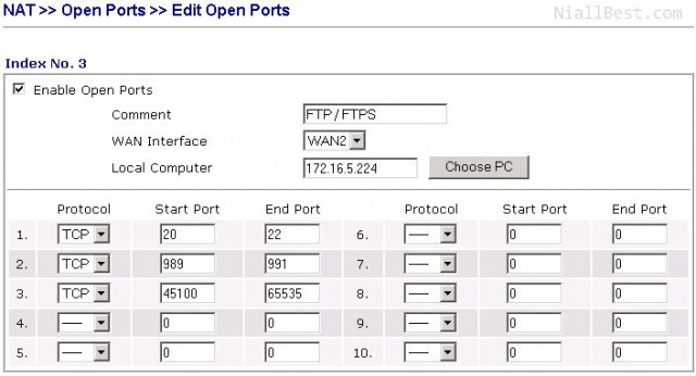 Firewall ports to open for passive FTP