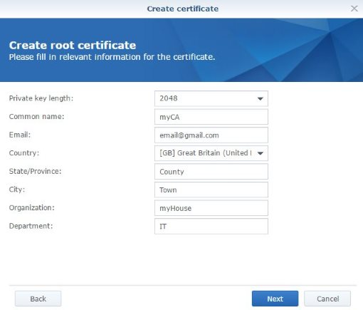 Create root CA SSL